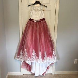 MAKE AN OFFER girls formal ball gown SZ 12